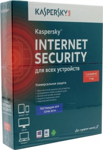 ПО Kaspersky Internet Security Multi-Device Russian Ed 5 devices 1 year Base Box (KL1941RBEFS)
